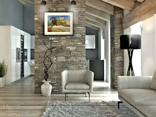 Living room by Tomas Andres, Rustic