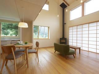 house in Ishikawauchi モダンデザインの ダイニング の とやま建築デザイン室 モダン