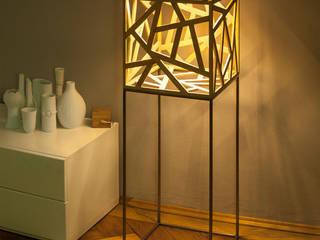 Leuchtobjekt kubus aus Massivholz (LED):   von Leuchtmanufaktur – Otto Sprencz