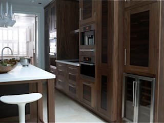 Exotic wood kitchens:  Kitchen by Hutchinson furniture and interiors