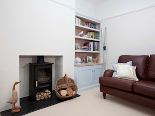 driftwood alcove units Chalkhouse Interiors Classic style living room