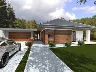 Domy z wejściem od południa: styl klasyczne, w kategorii Domy zaprojektowany przez ABC Pracownia Projektowa Bożena Nosiła - 1