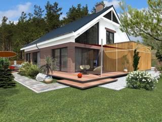 DZP-9 - dom energooszczędny i pasywny: styl klasyczne, w kategorii Domy zaprojektowany przez ABC Pracownia Projektowa Bożena Nosiła - 1