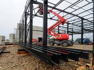 Construction de la nouvelle savonnerie RAMPAL-LATOUR à Salon de Provence Locaux commerciaux & Magasin industriels par Alphaphoto Industriel