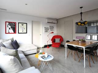 Salas / recibidores de estilo moderno por Duda Senna Arquitetura e Decoração