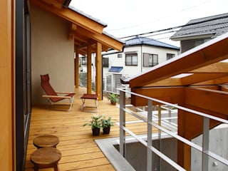 Country style balcony, veranda & terrace by 遠藤浩建築設計事務所 H,ENDOH ARCHTECT & ASSOCIATES Country