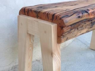 Banc en vieux bois et frêne:  de style  par Melcréationsbois