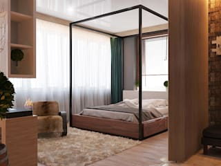 Scandinavian style bedroom by Частный дизайнер и декоратор Девятайкина Софья Scandinavian