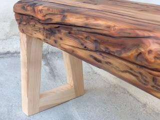 assise en vieux bois de mélèze:  de style  par Melcréationsbois