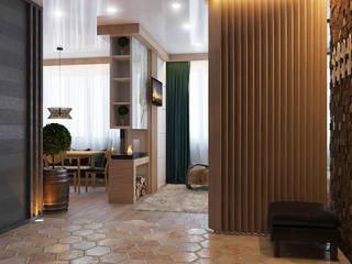 Scandinavian style corridor, hallway& stairs by Частный дизайнер и декоратор Девятайкина Софья Scandinavian
