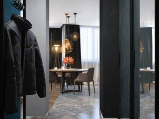 SVAI Studio Pasillos, vestíbulos y escaleras de estilo ecléctico