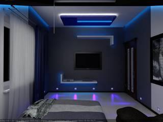 Спальня для молодого человека Спальня в стиле минимализм от Цунёв_Дизайн. Студия интерьерных решений. Минимализм