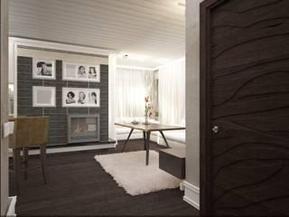 Дизайн интерьера п.FamilyClub Гостиная в стиле кантри от Veronika Brown Studio Кантри