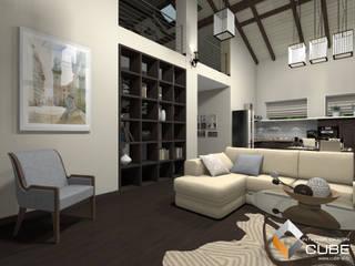 Лаборатория дизайна 'КУБ' Salones de estilo minimalista