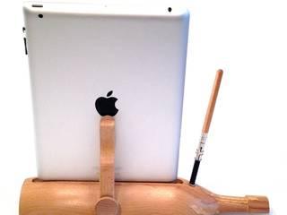 Dockingstation Holz für Apple iPad 2 u. iPhone 4, 4s, Ladestation aus verleimter Buche massiv von Holz und Licht Ausgefallen