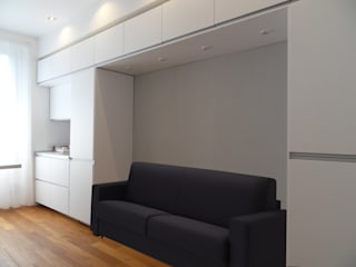 غرفة المعيشة تنفيذ gk architetti  (Carlo Andrea Gorelli+Keiko Kondo),