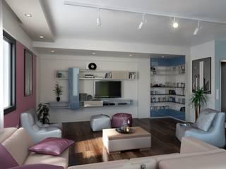 ROAS ARCHITECTURE 3D DESIGN AGENCY Livings de estilo moderno