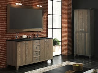Rustic style bathrooms by F&F Floor and Furniture Rustic