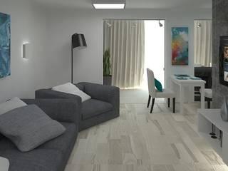 Дизайн-проект квартиры 100 кв. м.: Гостиная в . Автор – Мастерская архитектуры и дизайна FOX