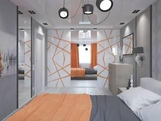Однокомнатная квартира 40 кв.м.: Спальни в . Автор – Мастерская архитектуры и дизайна FOX