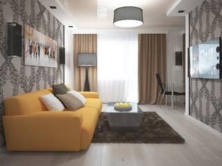 Однокомнатная квартира 40 кв.м.: Гостиная в . Автор – Мастерская архитектуры и дизайна FOX