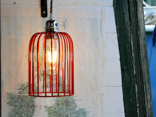 Colourful Edison Cage Filament Lights: eclectic  by NuCasa, Eclectic