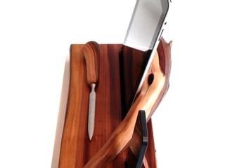 Dockingstation Holz für Apple iPhone 5, 5s u. iPad 2, Ladestation aus Apple Manzanita Wood von Holz und Licht Ausgefallen