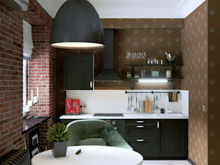 Интерьер с индивидуальностью: Гостиная в . Автор – Architectural Bureau DAOFORM