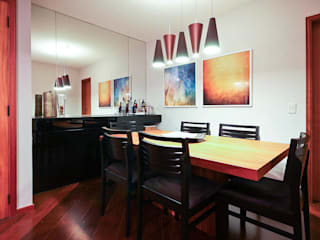 KFOURI ZAHARENKO arquitetura e design Ruang Makan Modern