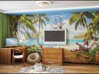 Фото интерьера детской комнаты: Детские комнаты в . Автор – Бюро домашних интерьеров