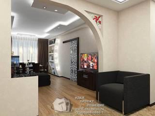 Дизайн интерьера гостиной: Гостиная в . Автор – Бюро домашних интерьеров