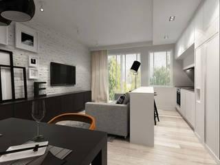Mieszkanie żeglarza od Projektowanie Wnętrz Suspenzo