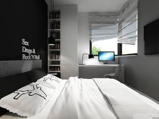 Sypialnia od Projektowanie Wnętrz Suspenzo