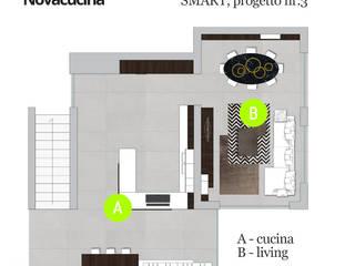 SMART progetto 3 di Nova Cucina Moderno