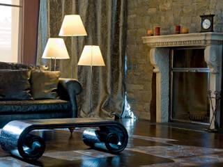 Villa a Clusone (BG): Soggiorno in stile  di Lineacolor studio di giacomo Bonaldi