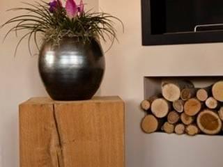 Eichenholz Sockel verwendet als Hocker (mit Rollen):   von Solits - Sockel und Säulen