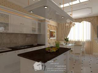 Бежевый и белый в интерьере кухни: Кухни в . Автор – Бюро домашних интерьеров