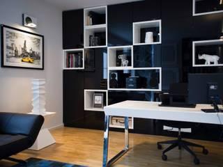 Gabinet domowy Nowoczesne domowe biuro i gabinet od Projektowanie Wnętrz Suspenzo Nowoczesny