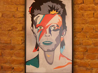Arte/ Quadro Rockstars Allstars Bowie:   por A Nave Design Audio Video