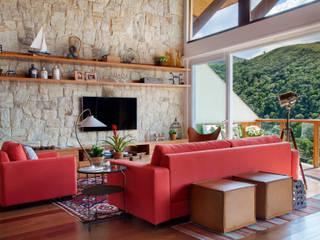 Salas de estilo rural de sadala gomide arquitetura Rural