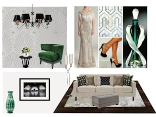 Концепция гостиной и столовой:  в . Автор – L'Essenziale Home Designs