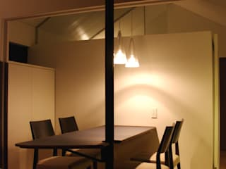 K-HOUSE 北欧デザインの ダイニング の 3*D空間創考舎一級建築士事務所 北欧