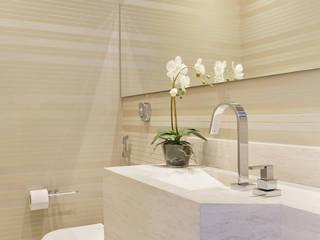Casas de banho  por Carolina Mendonça Projetos de Arquitetura e Interiores LTDA