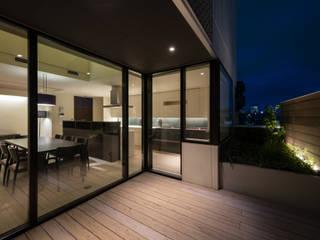 S-HOUSE モダンデザインの テラス の 3*D空間創考舎一級建築士事務所 モダン