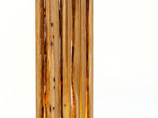 Leuchtobjekt flammu aus Massivholz (LED):   von Leuchtmanufaktur – Otto Sprencz