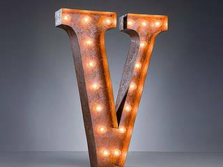 Large Fairground Vintage Letter Lights: industrial  by NuCasa, Industrial