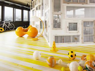 Bauwerk Parquet - Vintage Edition : un parquet original et coloré ! Ecoles modernes par BAUWERK PARQUET Moderne