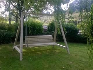 Outdoor Garden Swing NI Climbing Frames Jardines de estilo clásico