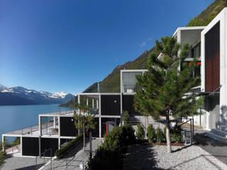 Terrassenhäuser Schillerrain, 2. Etappe, Brunnen:  Häuser von Eggenspieler Röösli Architekten AG