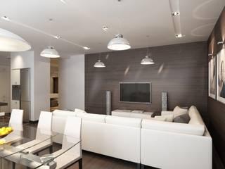غرفة المعيشة تنفيذ MIODESIGN, تبسيطي
